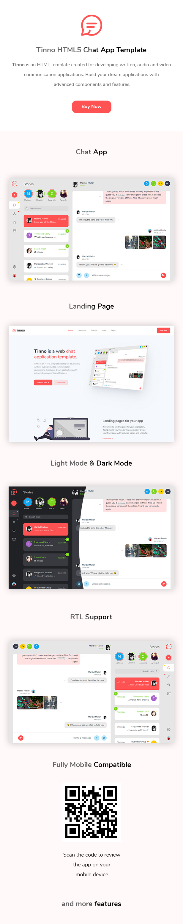Tinno - HTML5 Chat App Template - 1